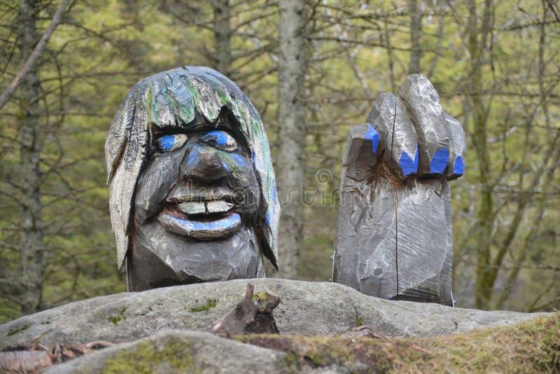 Trol figure - Bergen, Norway stock image