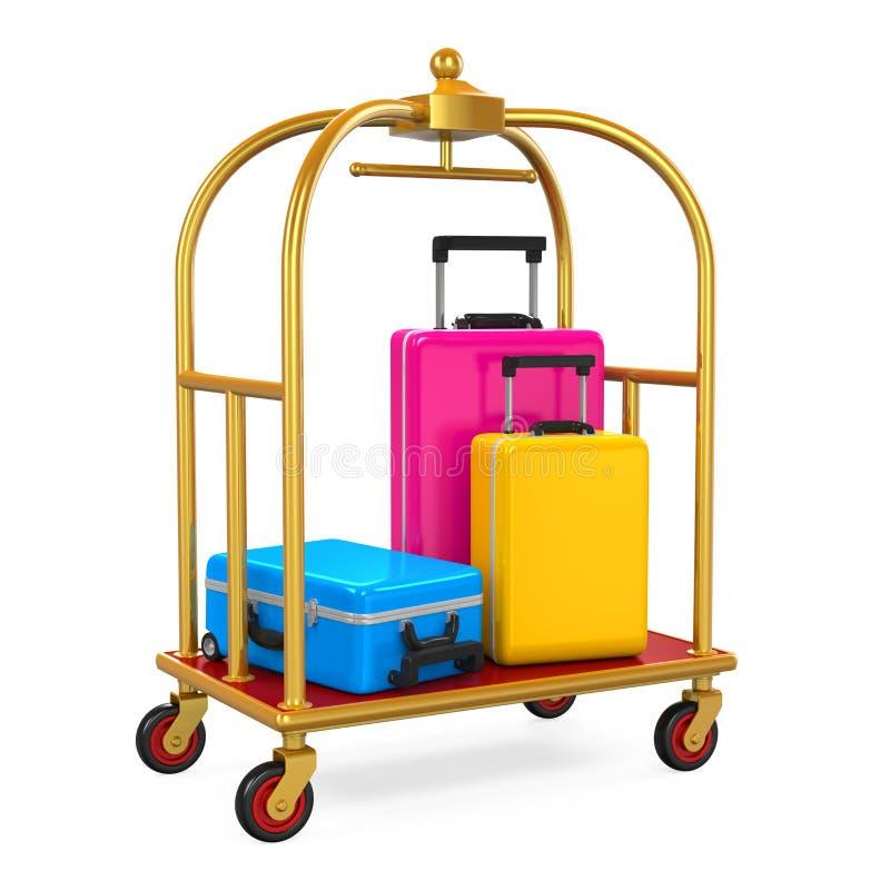 Trole da bagagem do hotel ilustração royalty free