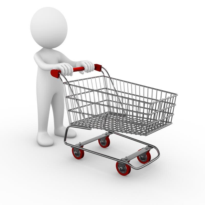 Trole da compra ilustração do vetor