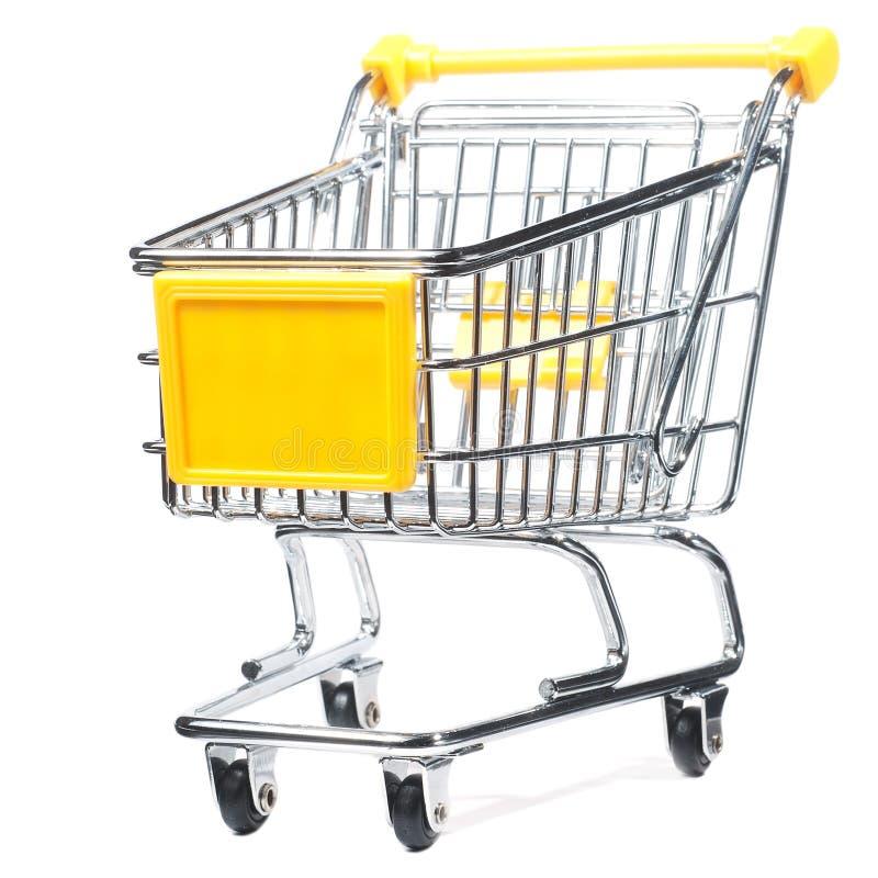 Trole de compra isolado fotografia de stock