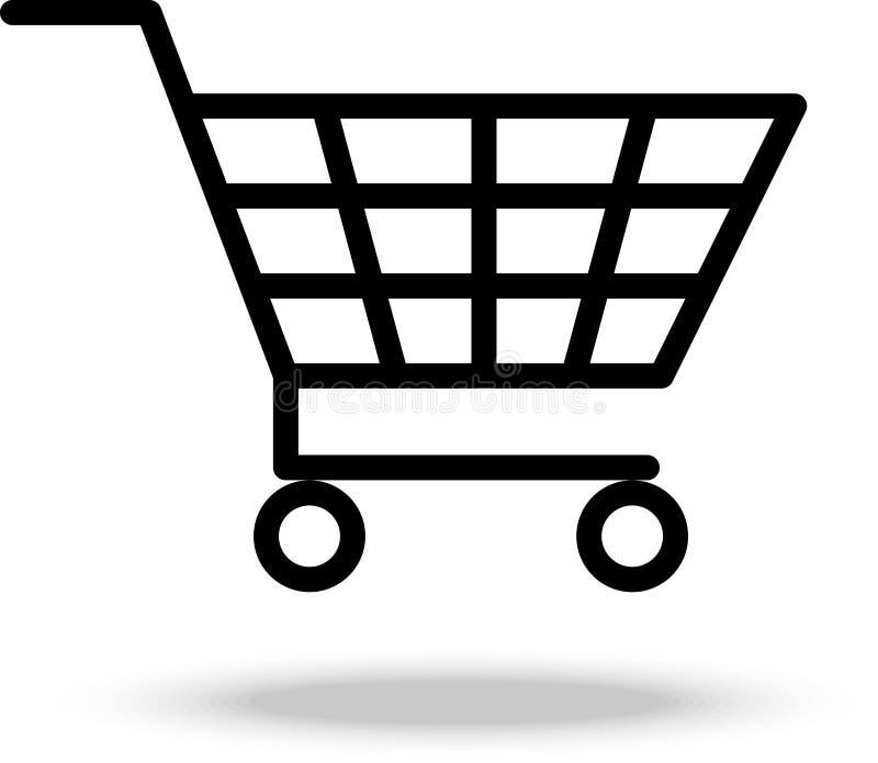 Trole do carrinho de compras Ilustração do vetor ilustração stock