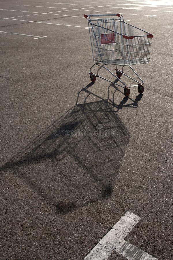 Trole do supermercado da compra ilustração royalty free