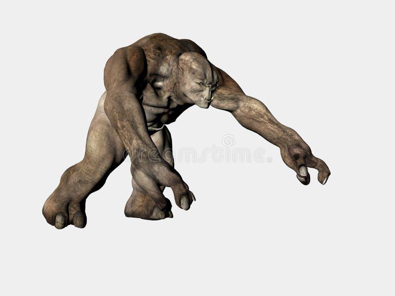 troll изверга иллюстрация штока