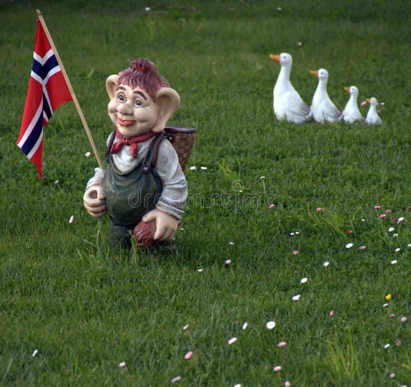 troll норвежца флага стоковое изображение