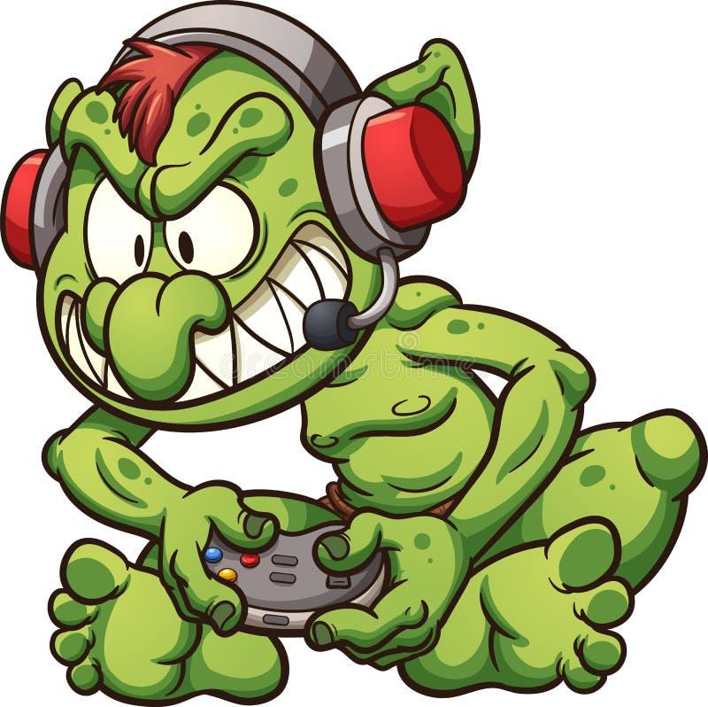 Troll de Gamer illustration libre de droits