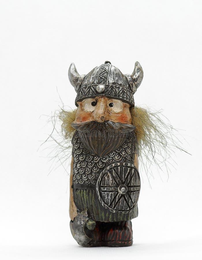 Troll islandese felice su fondo bianco fotografie stock