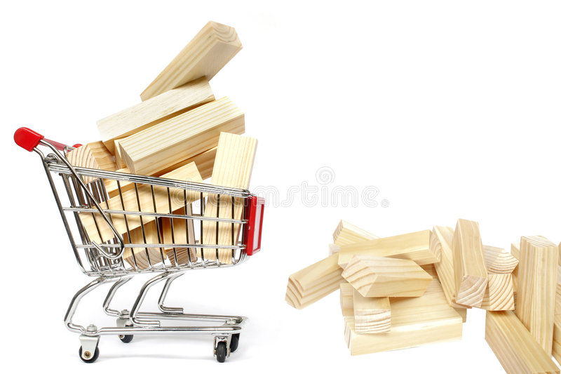 Download Trolley and Blocks stock image. Image of economics, shop - 468627