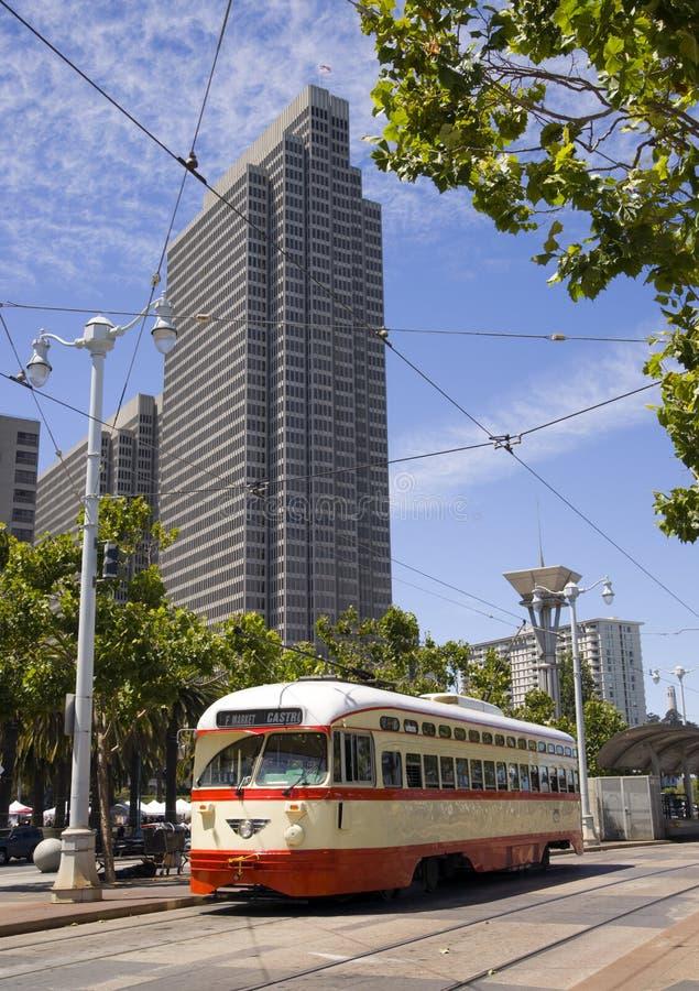 Download Orange Striped Retro Overhead Cable Trolley CAR Stock Photo - Image: 26167018