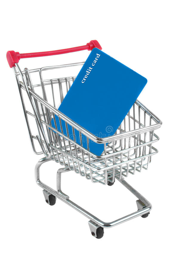 Download Trolley with card stock image. Image of isolated, payment - 30856707