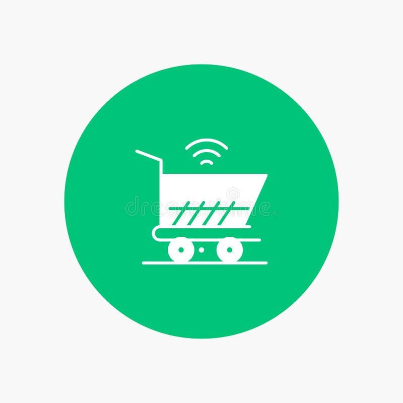Trolley, Cart, Wifi, Shopping vector illustration