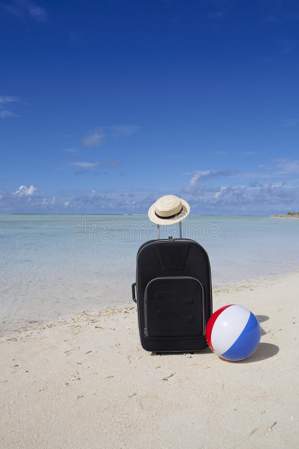 Download Trolley case at the beach stock photo. Image of tropical - 27337834