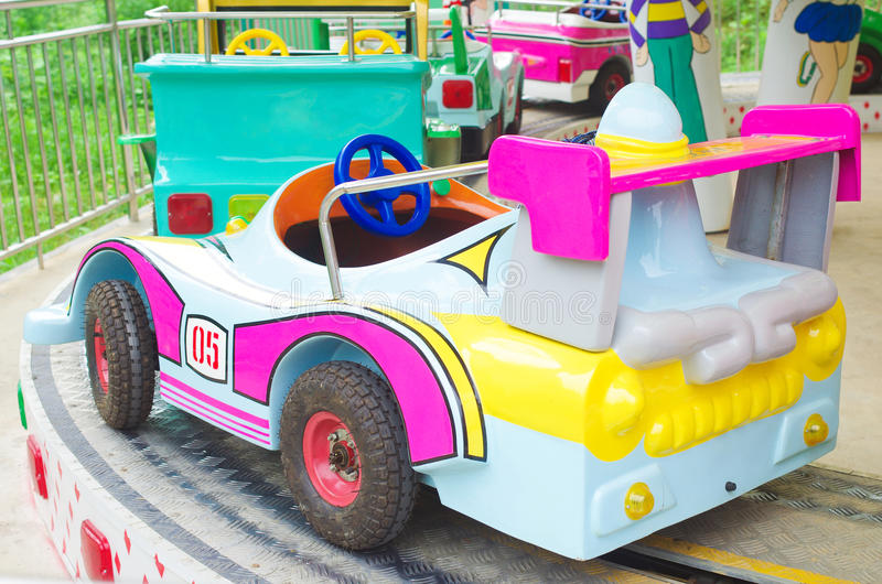Trolley. Children's amusement park trolley royalty free stock photo