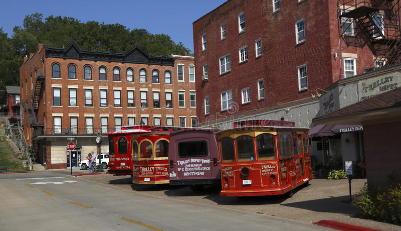Download Trolley Depot In Historic Galena, Illinois Editorial Image - Image: 26439355