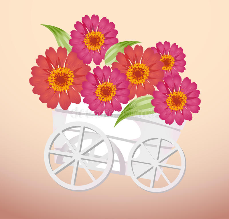 Download Trolley and flower stock illustration. Illustration of changing - 10103020