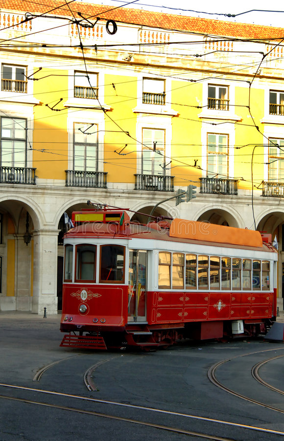 Download Trolley On Lisbon Portugal Street Stock Image - Image: 5640537