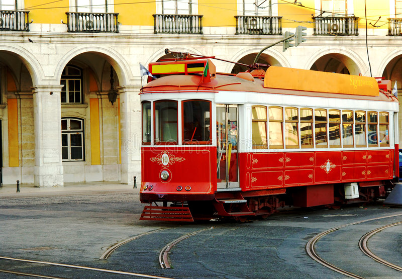 Download Trolley On Lisbon Portugal Street Stock Image - Image of trolley, tourist: 5700851