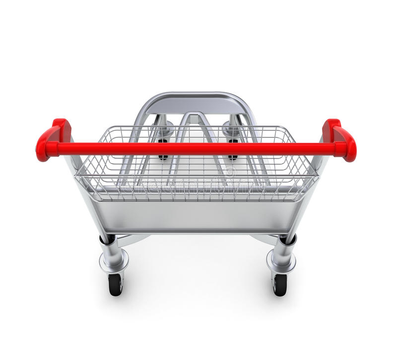 Trolley For Luggage At The Airport Stock Photos
