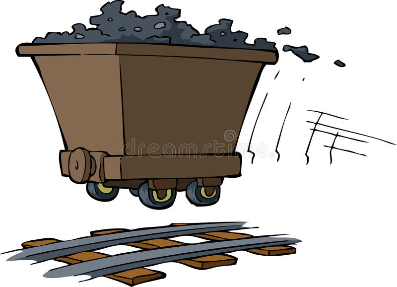 Download Trolley with ore stock vector. Image of speed, drawing - 29132795