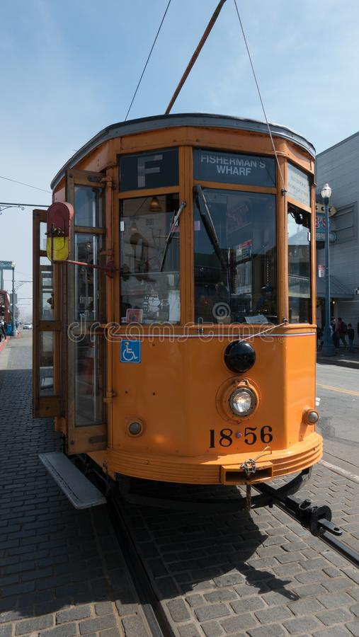 Trolley on San Francisco street royalty free stock photo