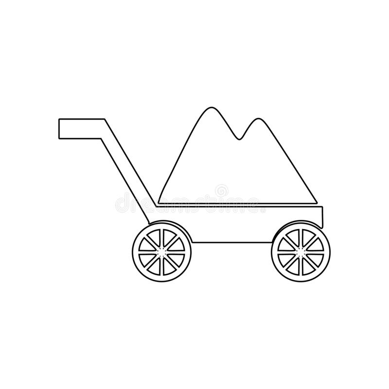 trolley with soil icon. Element of Garden for mobile concept and web apps icon. Outline, thin line icon for website design and vector illustration
