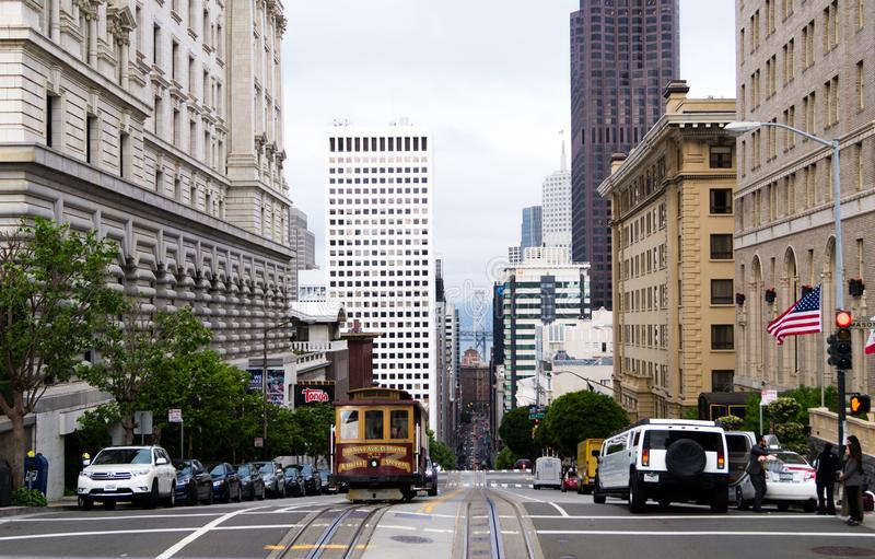 Trolley San Francisco. Trolley and street San Francisco stock photo