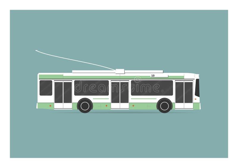 trolleybus vector illustratie