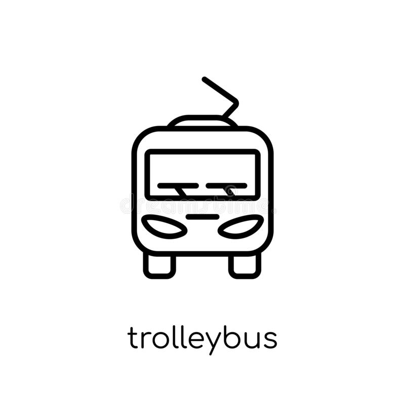 Trolleybus icon from Transportation collection. vector illustration