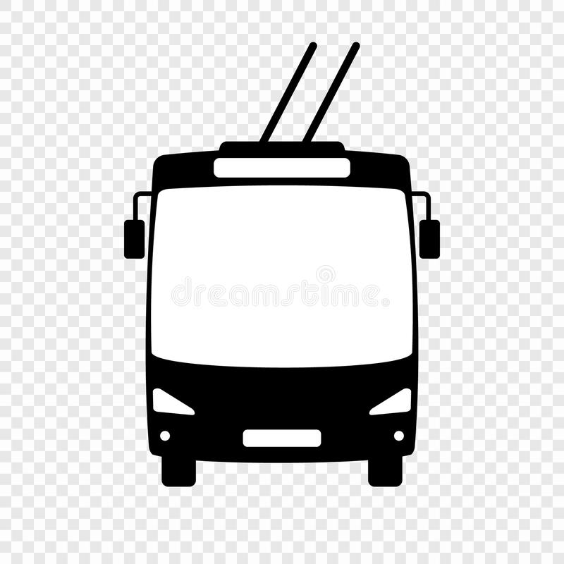 Trolleybus vectorpictogram stock illustratie