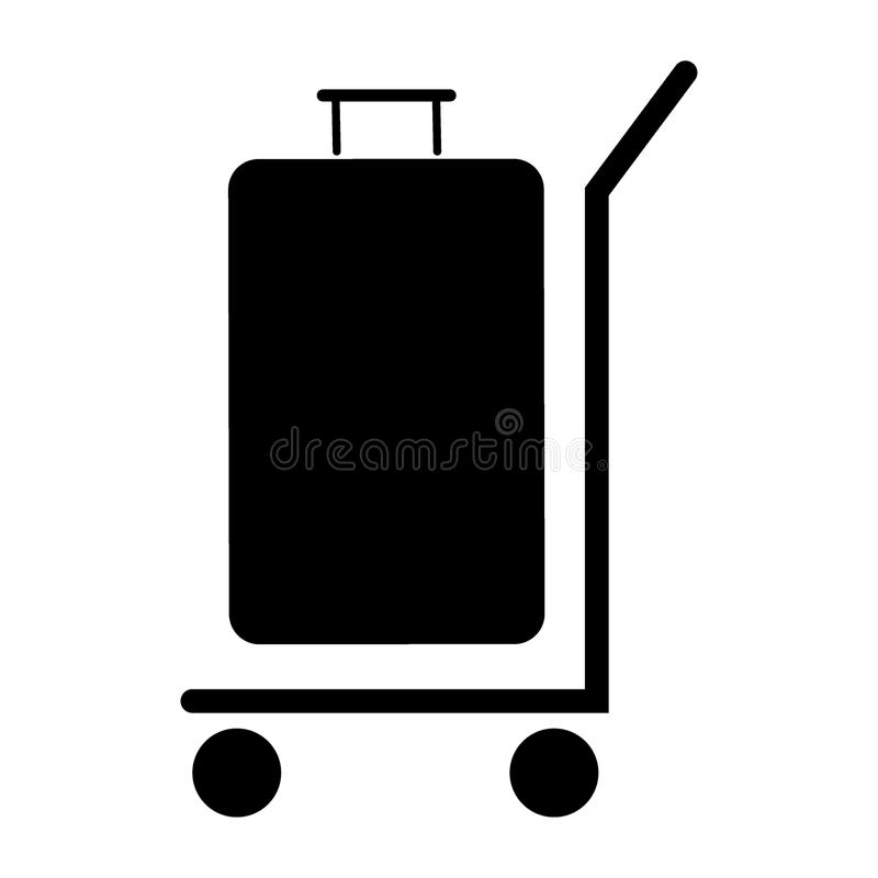 Trolleys icon. Simple flat black trolleys icon royalty free illustration