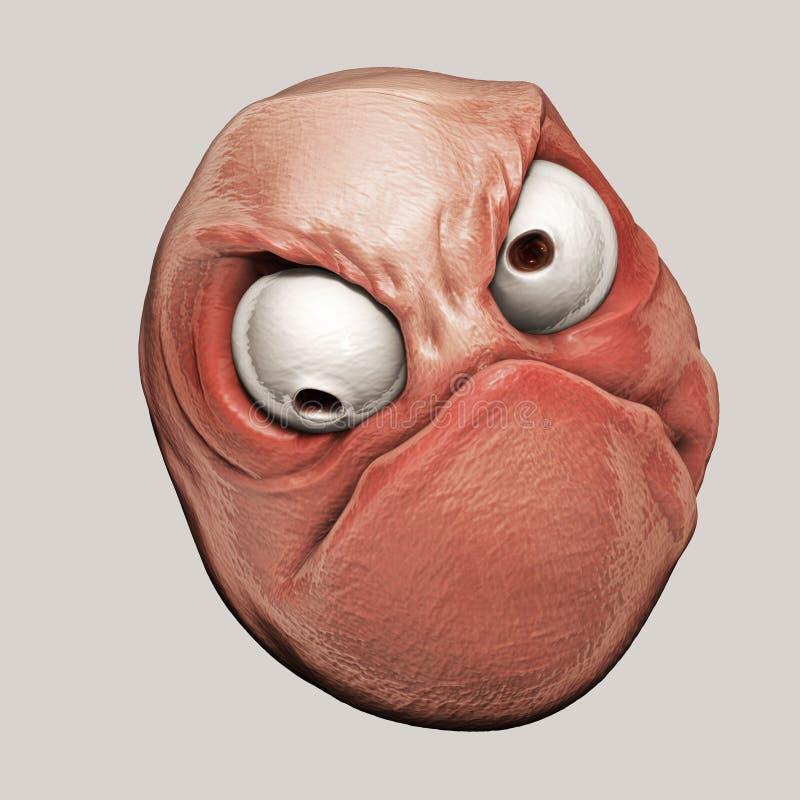 Free Trollface Rage. Internet Meme 3d Illustration Royalty Free Stock Image - 46181106