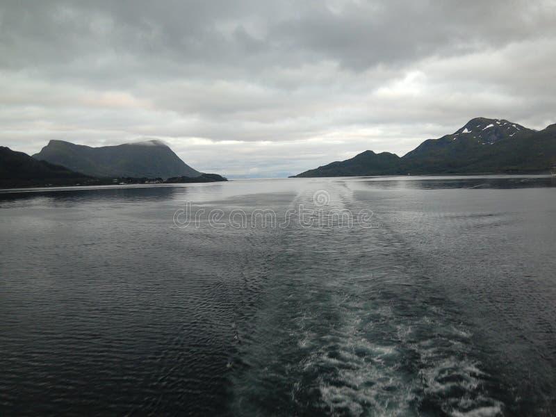 Trollfjord & x28; Norway& x29; arkivbild