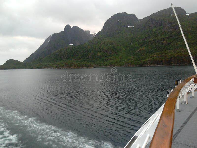 Trollfjord & x28; Norway& x29; royaltyfri bild