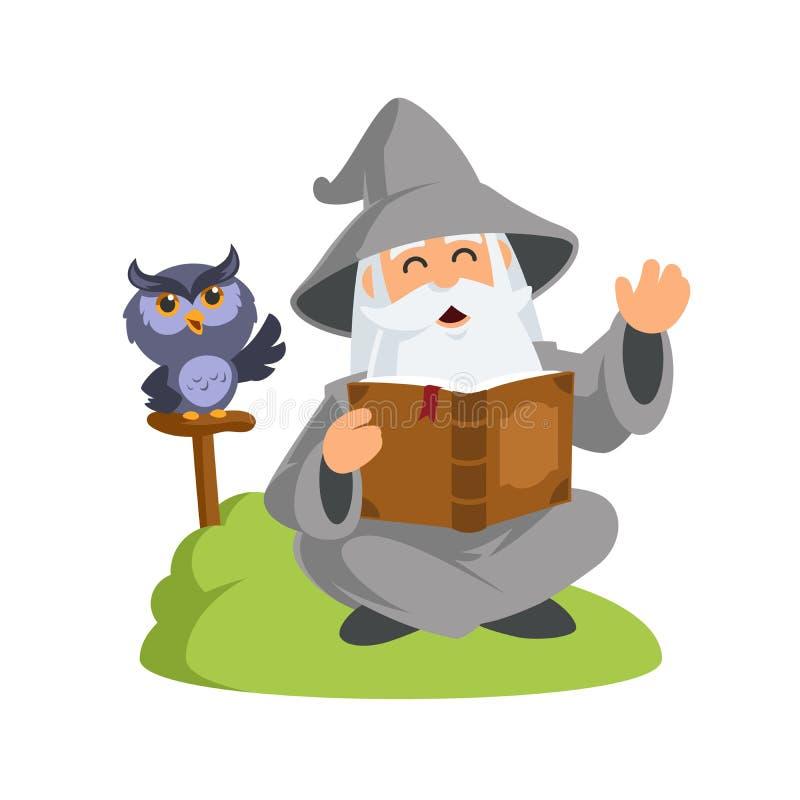 trollkarl stock illustrationer