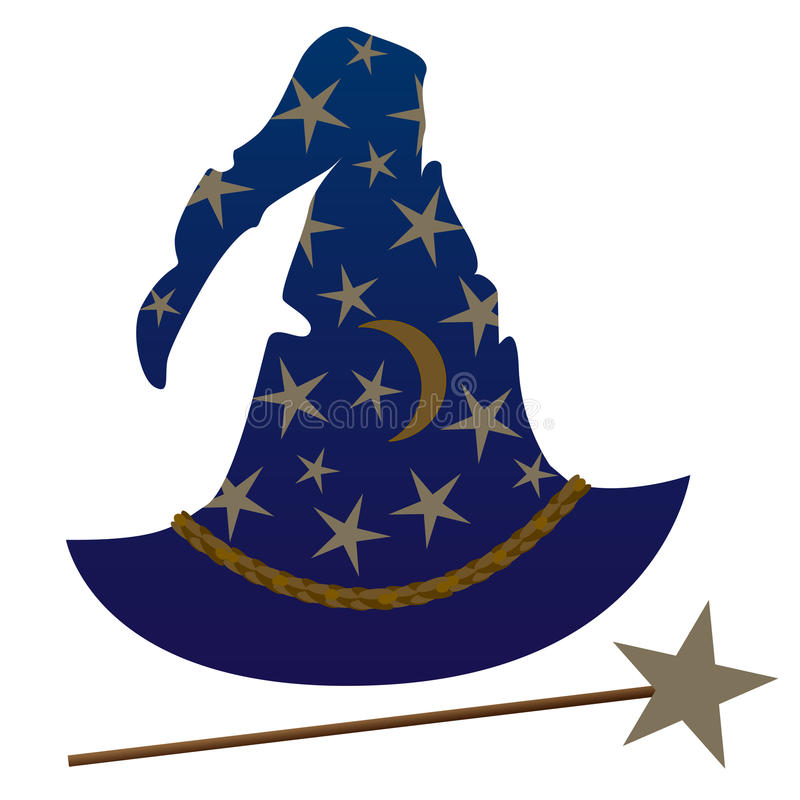 trollkarl för hatt s stock illustrationer