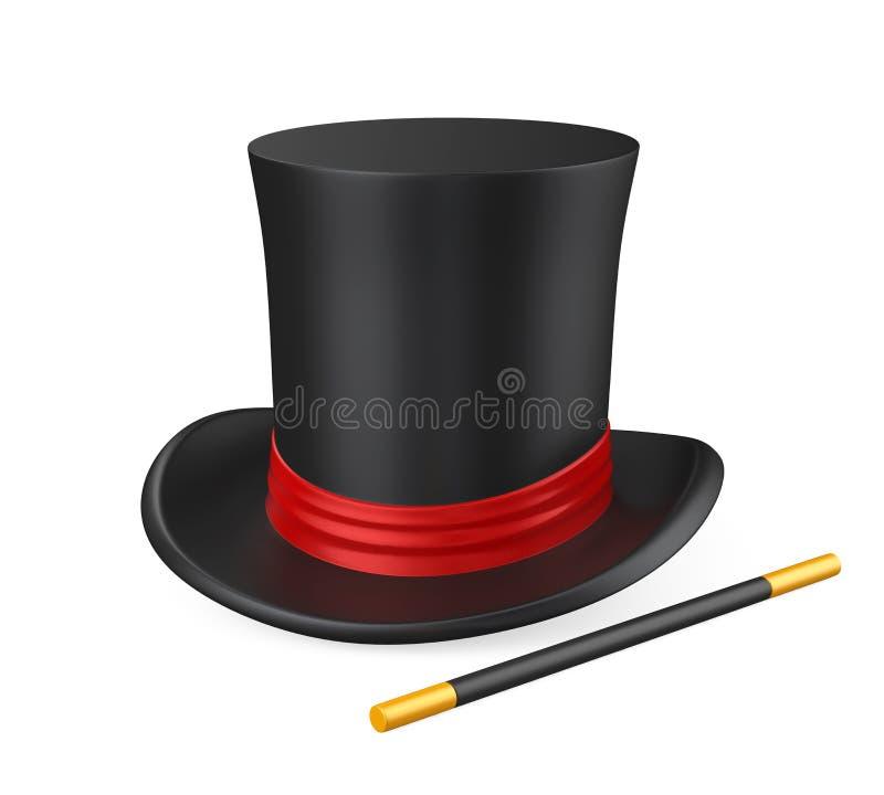 Trollkarl Hat stock illustrationer