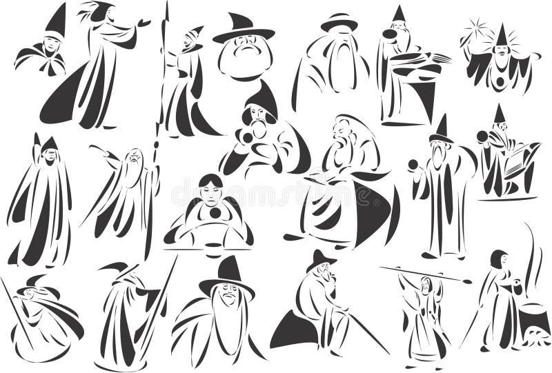 trollkarlar stock illustrationer