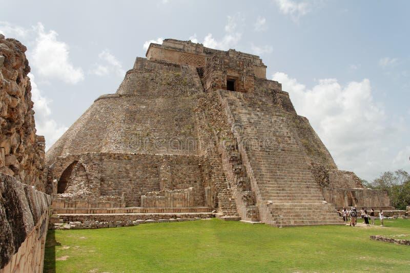 trollkarlmexico pyramid uxmal yucatan royaltyfri bild