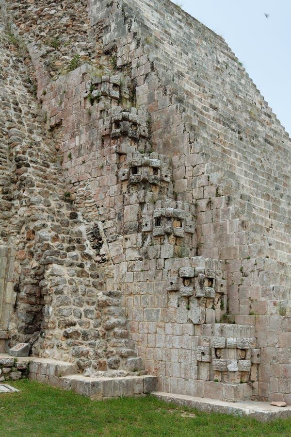 trollkarlmexico pyramid uxmal yucatan royaltyfri foto