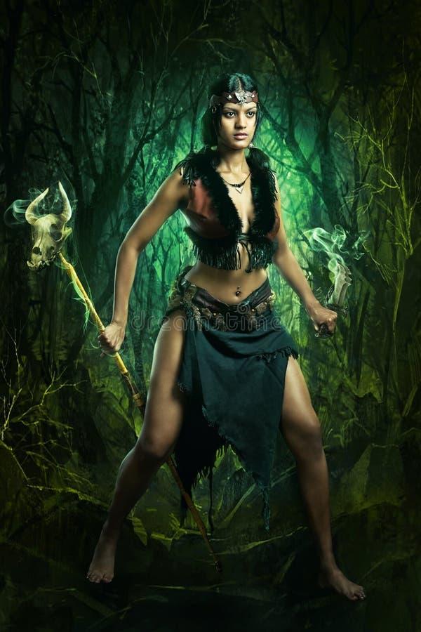 Trollkvinnakvinna arkivbild