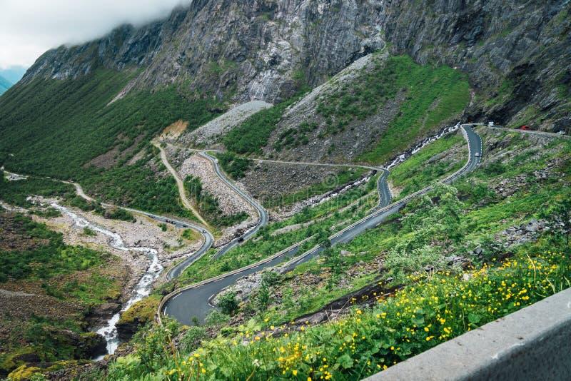 Trolls путь Норвегия стоковое фото rf