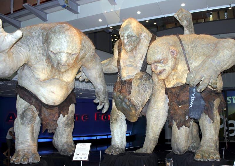 Trolls de caverne, Wellington, Nouvelle-Zélande, vers 2013 image libre de droits