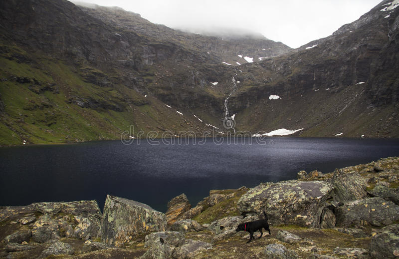 Trollsjön,北瑞典 库存图片