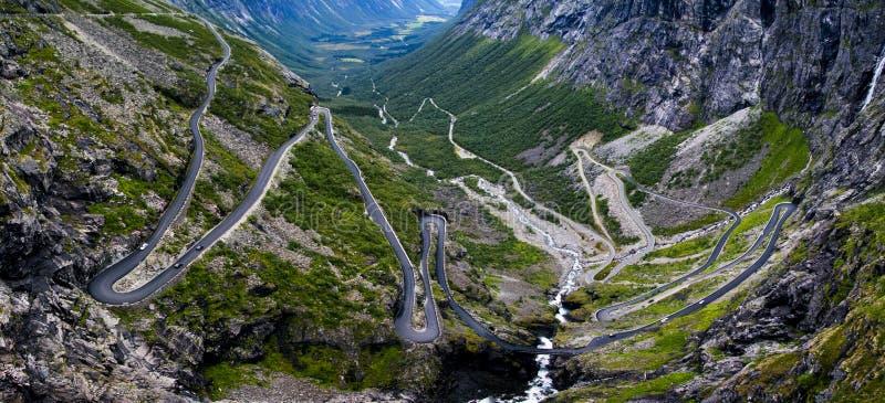 Trollstigen在挪威 库存照片