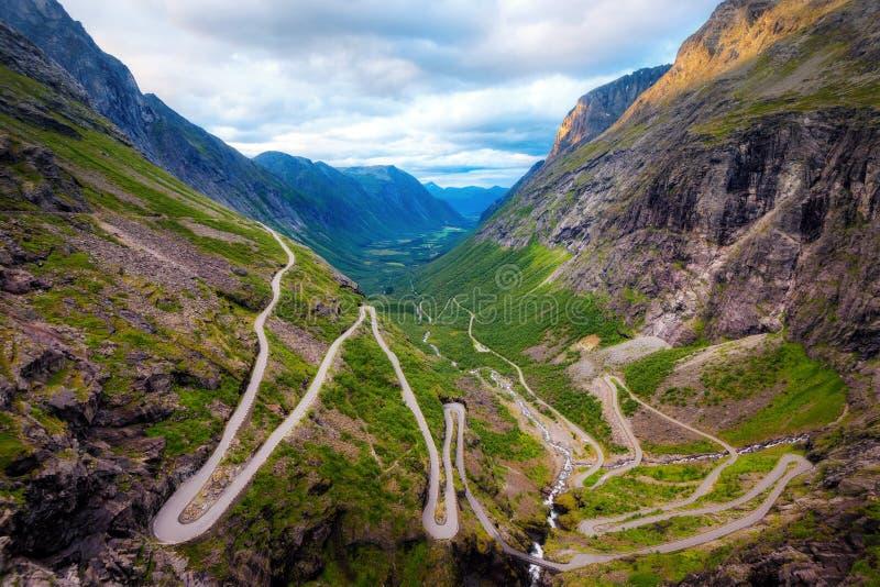 Trollstigen挪威 免版税图库摄影