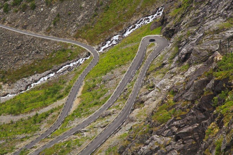 Trollstigen (błyszczki Footpath), zdjęcie royalty free