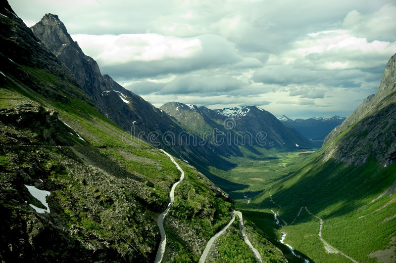 Download Trollstigen ( Norway ) stock image. Image of norway, green - 1121849