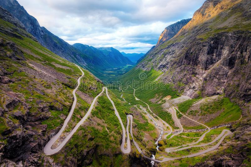 Trollstigen Norwegia fotografia royalty free