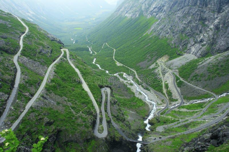 Trollstigen road stock images