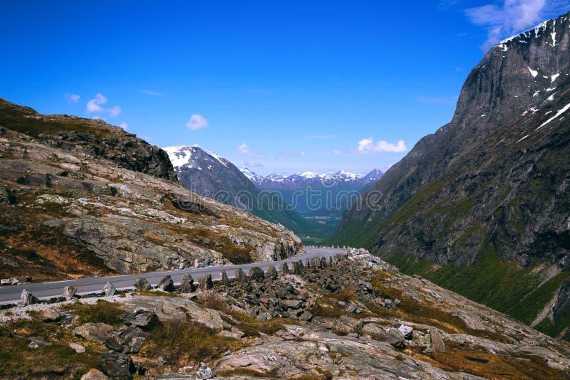 Trollstigeveien στοκ εικόνα
