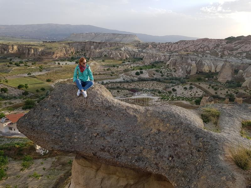 Trolltunga, Cappadocia styl obrazy stock